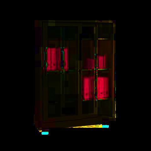 Armadi metallici con ante scorrevoli in vetro